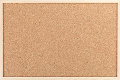 Cork board. Empty cork board isolated on the white background stock photography
