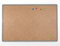 Cork board empty with pins  blank background texture Royalty Free Stock Photo