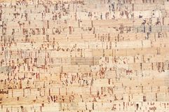 Cork board flooring background Stock Photos