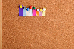 Cork board and heading for eight letter word Royalty Free Stock Photography