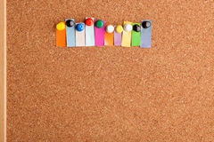 Cork board and heading for ten letter word Royalty Free Stock Image