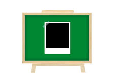 Cork board instant film graph business concept Stock Photography