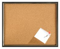 Cork Board. Isolated Stock Photography