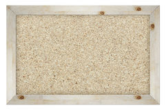 Cork board isolated on white Royalty Free Stock Photos