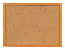 Cork board isolated on white Stock Image