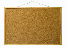 Cork board isolated on white wall Royalty Free Stock Images