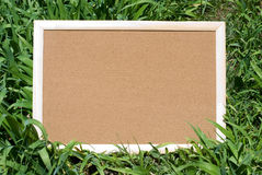 Cork board in nature Royalty Free Stock Photo