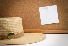 Cork board note on it Stock Images