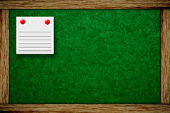 Cork board and note paper Stock Image