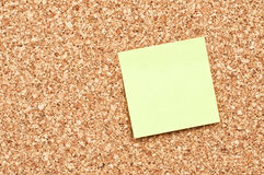 Cork board with Note Paper Stock Image