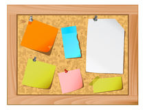 Cork board with note papers Stock Photos
