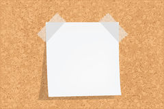 Cork Board With Notes. Vector illustration Royalty Free Stock Photo