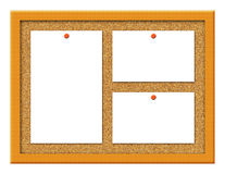 Cork Board with Notes Illustration Stock Photos