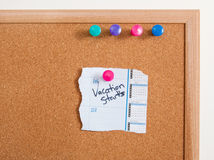 Cork Board Notes Stock Images