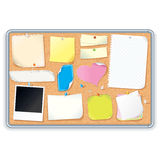 Cork Board with Notes. Vector Image. Corkboard with a Various Paper Notes, Stickers. Editable Vector  on White Background Royalty Free Stock Photo