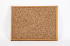 Cork board onwhite background Stock Photo