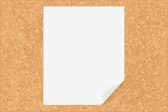 Cork Board With Paper Royalty Free Stock Photography