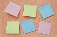 Cork Board and Paper Note. Stock Photo