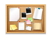 Cork Board With Papers Royalty Free Stock Photography