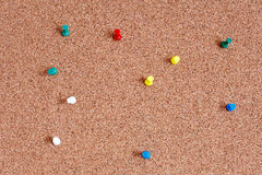 Cork board with pins Stock Photography