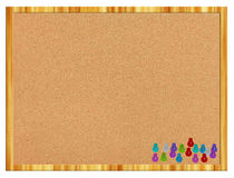 Cork board with pins Royalty Free Stock Photo