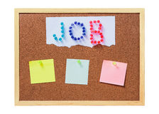 Cork board with plastic pins Stock Images