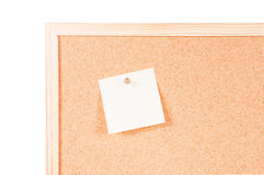 Cork board with posits Stock Photography