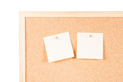 Cork board with posits Royalty Free Stock Photos
