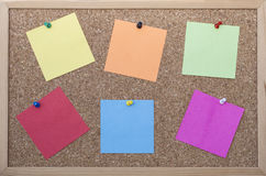 Cork board with post its Stock Photography