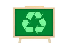 Cork board recycle logo graph business concept. White isolate Stock Photos