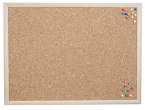 Cork board with tacks royalty free stock image