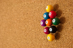 Cork board with tacks Stock Photography