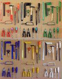 Cork board with tools Royalty Free Stock Photo