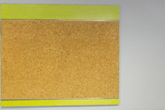 Cork board on a wall Royalty Free Stock Photos