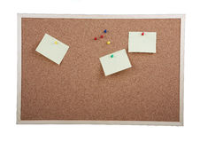 Cork board on white background Stock Images