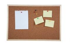 Cork board on white background Stock Image