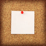 Cork board with white note Stock Photography