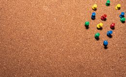 Free Cork Board With Colored Pins On It Stock Photos - 150976683