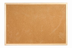 Cork board. With a wooden frame Stock Images