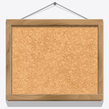 Cork board with wooden frame Royalty Free Stock Photography
