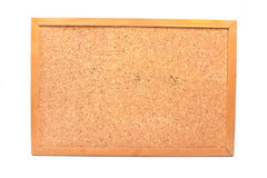 Cork board in wooden frame Royalty Free Stock Images