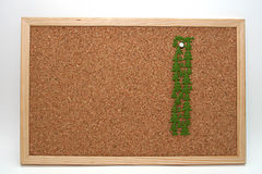 Cork bord Royalty-vrije Stock Afbeelding