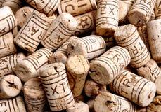 Cork bottle background stock image