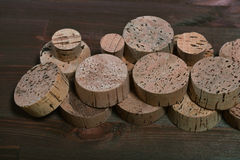 Cork from bottles of chemicals. Cork tree. Royalty Free Stock Image