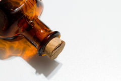 Cork in Brown Glass Bottle Stock Photography