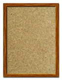 Cork Bulletin Board. Wooden framed cork bulletin board, isolated Royalty Free Stock Image
