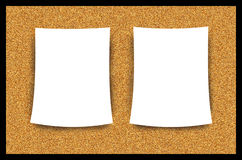 Cork Bulletin Board Blank Paper Sheet Illustration. Cork bulletin board with blank paper illustration. Nice graphic as is or can be used for post-editing for Stock Image