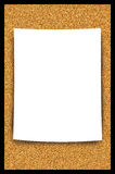 Cork Bulletin Board Blank Paper Sheet Illustration Stock Images