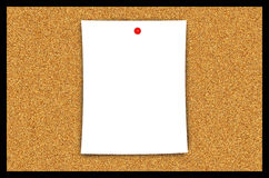 Cork Bulletin Board Blank Paper Sheet Illustration. Cork bulletin board with blank paper illustration. Nice graphic as is or can be used for post-editing for Royalty Free Stock Photography