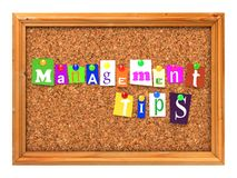 Cork Bulletin or Message Board. Stock Images